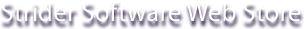 Strider Software Web Store
